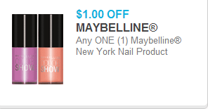 Maybelline Nail Coupon
