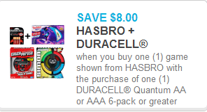 Hasbro and Duracell Coupon