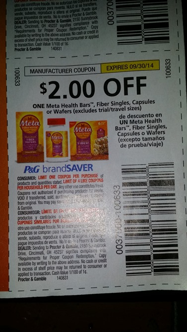 Meta Health Bar Coupon
