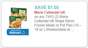 Marie Callender's Single Serve Frozen Meals coupon