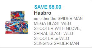 Spider-Man Mega-Blaster Coupon