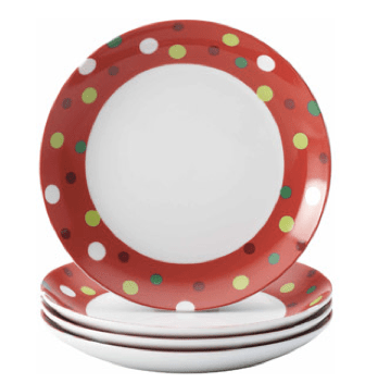 Rachael Ray Set of 4 Round Appetizer Plates On Clearance $7 + FREE Store Pick Up (Reg. $18)!