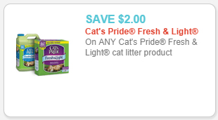 cat's pride fresh & light litter coupon