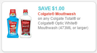 colgate total or optic white mouthwash coupon
