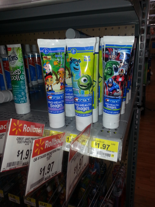 Crest Pro-Health Stages Toothpaste for $1.47 at Walmart!