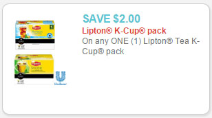 lipton tea k-cup coupon