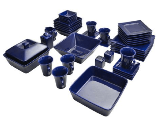 45-Piece Strawberry Street Nova Square Banquet Dinnerware Set Only $59 + FREE Shipping!