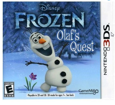 Disney Frozen Olaf's Quest (Nintendo 3DS) Only $15 + FREE Store Pickup (Reg. $30)!