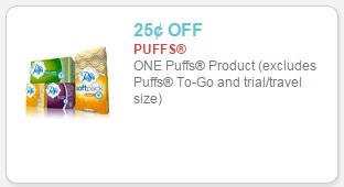 puffs facial tissue coupon