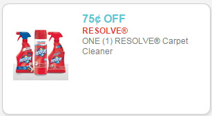 resolve carpet cleaner coupon