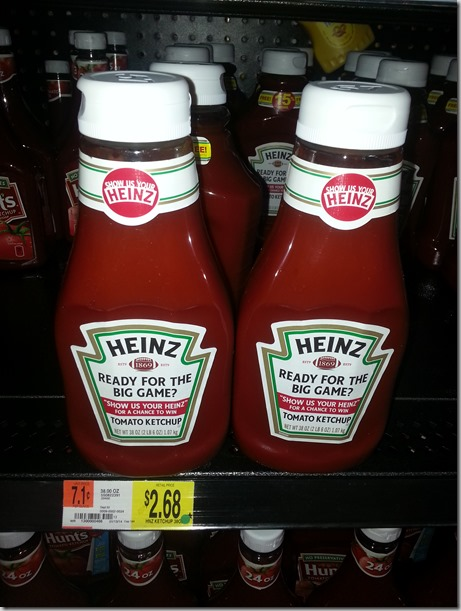 Save a Buck on Heinz Ketchup and Mustard at Walmart!