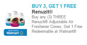 Renuzit Adjustable Air Freshener Cones Just $.71 at Walmart!