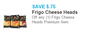 Frigo Cheese Heads Premium Item Just $2.73 at Walmart!