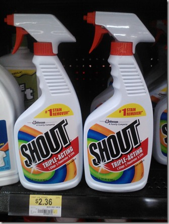Shout Laundry Products Starting at $1.11 at Walmart!