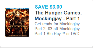 New Printable Coupons for Hunger Games: Mockingjay on DVD or Blu-Ray!