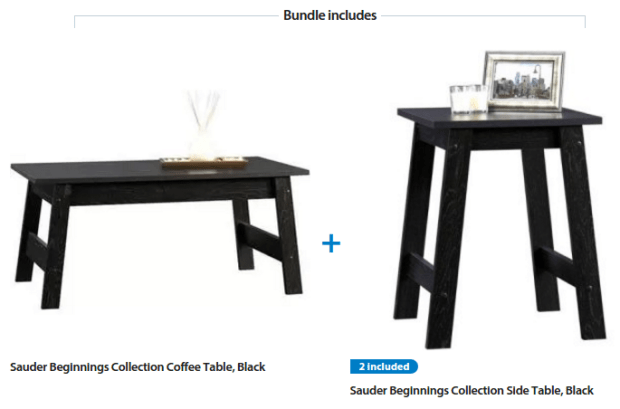 Sauder Beginnings 3 Piece Coffee And End Tables Just 59