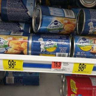 Pillsbury Grands Biscuits Just $0.65 At Walmart!