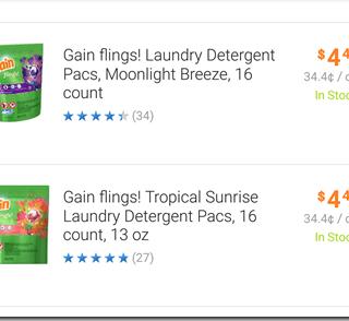 Gain Flings Just $.47 at Walmart!