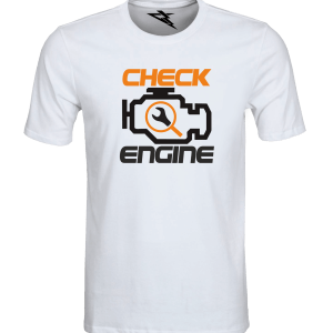 T-Shirt CHECK ENGINE ORANGE