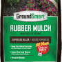 Black Rubber Mulch Espresso Bag Package GroundSmart