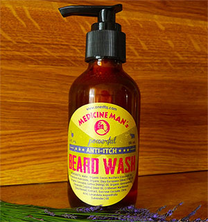 A photo of anti-itch beard wash.