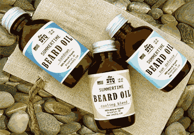 Photo of the beard oil conditioning kit.