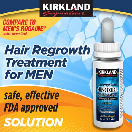 Photo of Minoxidil beard regrowth serum.