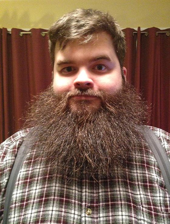 A straight beard.