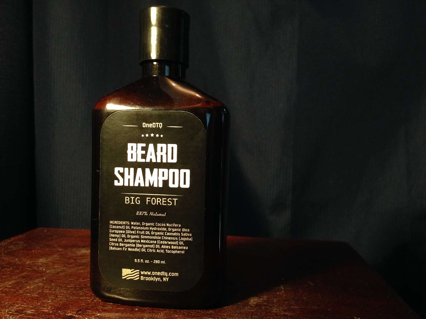 A photo of the world's best beard shampoo.