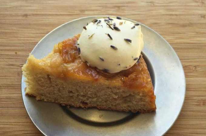 plum cake slice side