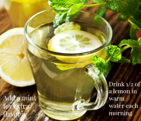Benefits of Drinking Lemon Water. Use 1/2 in warm water.