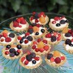 berry and mascarpone tartlets in hazelnut crust