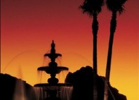 SPR_Main_Fountain_Sunset