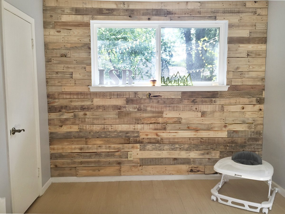 Nursery Wood Pallet Wall