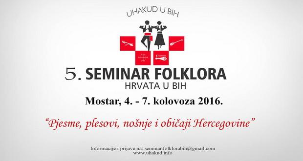 Plakat peti seminar folklora hrvata u bih