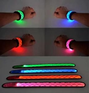 light up slap bracelet