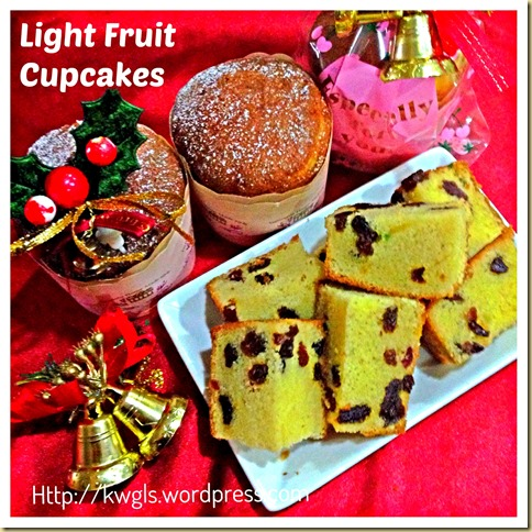 Christmas Muffins or Light Fruit Cake (圣诞马芬)