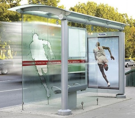 guerrillamarketing bushokje Nike