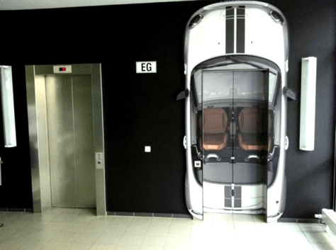 Guerrilla Marketing Voorbeeld 50 Mini Roadster Lift