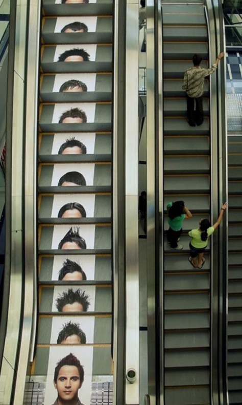 Guerrilla Marketing Voorbeeld 52 Escalator