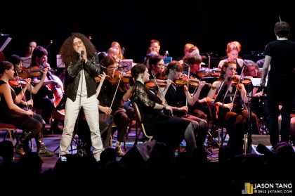 Zach Davidson with the Seattle Rock Orchestra.
