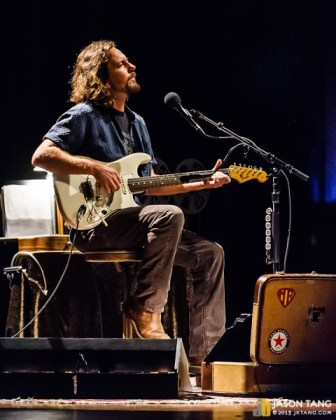 Eddie Vedder at Benaroya Hall. Photo by Jason Tang