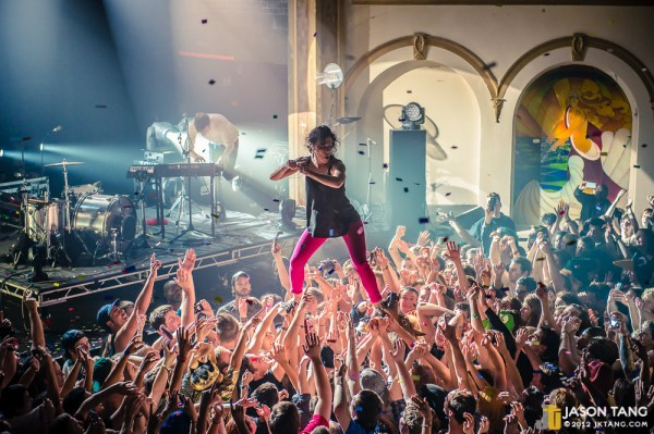 Matt and Kim at the Neptune in 2012. Photo by Jason Tang