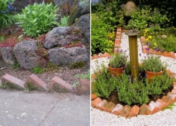 10 idee per utilizzare i mattoni in giardino guida giardino for Como colocar adoquines en el jardin