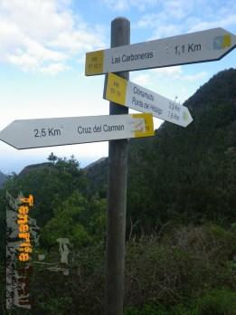 Detalle de senderos, desvio hacía Carboneras