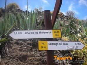 Cruce donde se inicia desvio a Cruz de los Misioneros