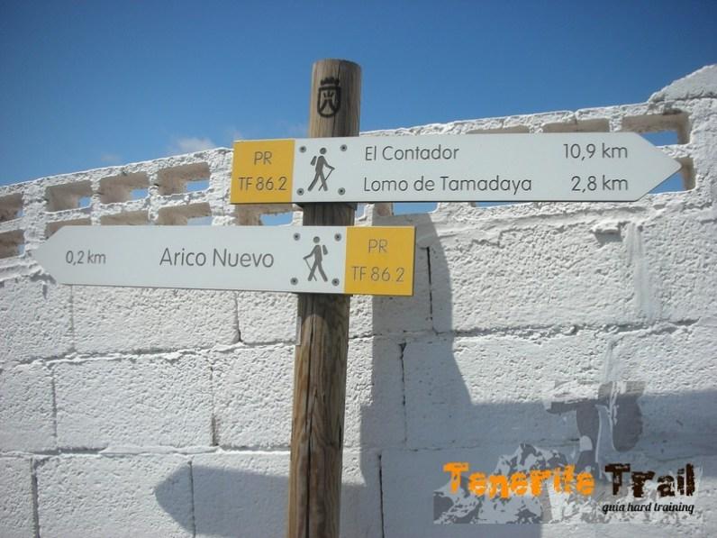 Cartelería del PR 86.2 dirección El Contador