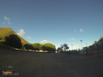 Detalle zona deportiva Los Campitos tiramos al fondo