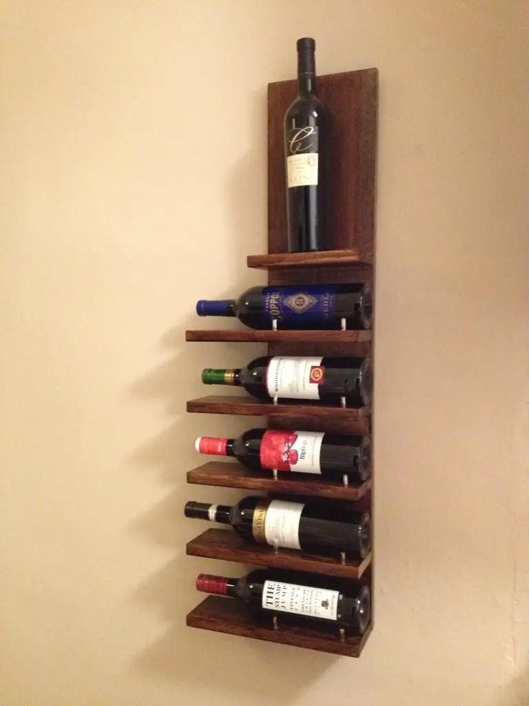 14 easy diy wine rack plans kitchen wine cabinet DIY Wall Wine Rack