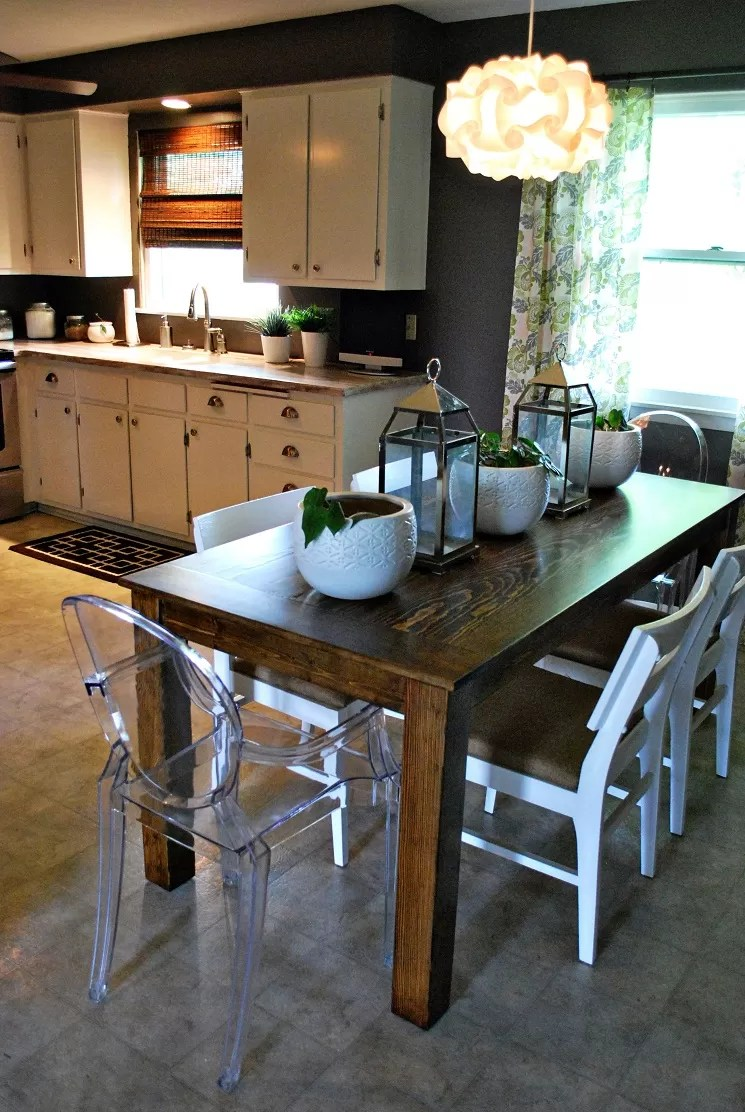 how to build a dining room table 13 diy plans diy kitchen table plans DIY Dining Table